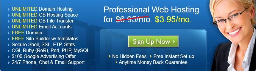 BlueHost虚拟主机优惠又来了 每月就$3.95