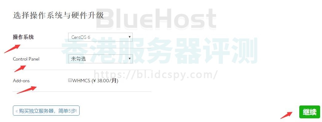 BlueHost VPS配置选择