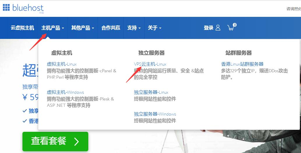BlueHost 中文站首页