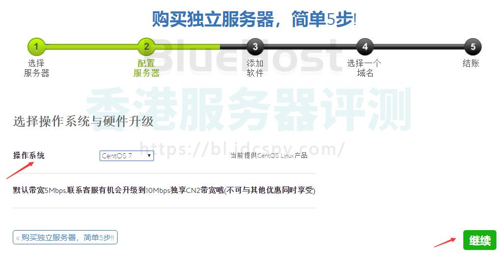 BlueHost香港服务器选择操作系统与硬件升级
