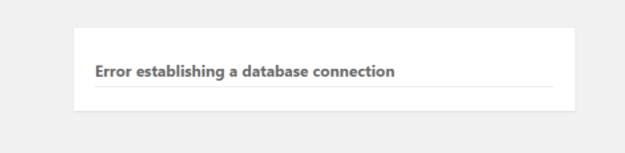"WordPress出现""Error Establishing a Database Connection""错误解决方法"